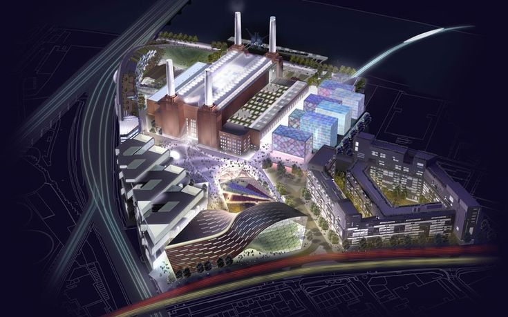 2004: CGI images of the power station masterplan released by Parkview International