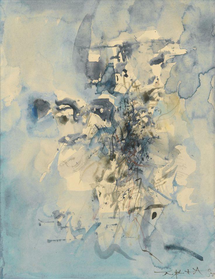 Zao Wou-Ki (Zhao Wuji) 1920-2013 Untitled watercolour on paper Lot 16 | Sotheby's