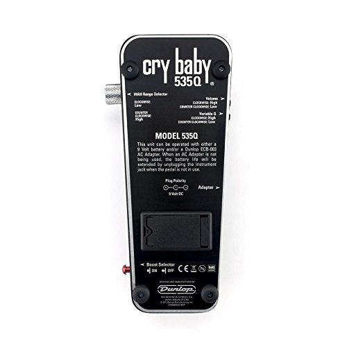 Dunlop 535Q Cry Baby® Multi-Wah, Black  http://www.instrumentssale.com/dunlop-535q-cry-baby-multi-wah-black/