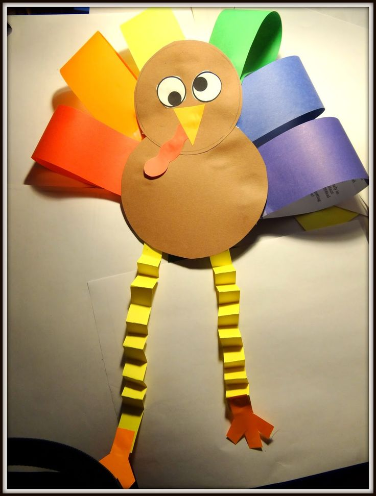 PATTIES CLASSROOM: Turkey Art Project from Colored Paper for #Thanksgiving!