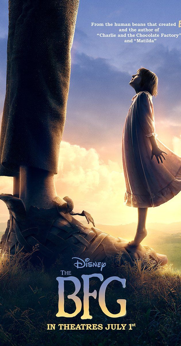 Directed by Steven Spielberg.  With Rebecca Hall, Mark Rylance, Bill Hader, Jemaine Clement. A girl named Sophie encounters the Big Friendly Giant who, despite his intimidating appearance, turns out to be a kindhearted soul who is considered an outcast by the other giants because unlike his peers refuses to eat boys and girls.