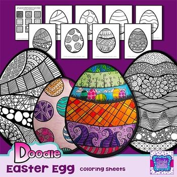 The Easter Egg coloring sheets are like nothing you have ever colored before! They are inspired by the Zentangle® method of pattern drawing.  Each page is full of unique doodles that take a traditional coloring sheet to a whole new level!! What makes these unique is that students will color the exact way they have in the past, but the end result looks amazing! Each student can choose how detailed they want to be on his/her Easter egg drawing, so this activity allows for varying abilities.