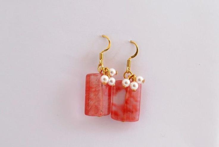 pearls and quartz