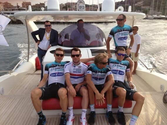 Twitter / MarkCavendish: Relaxing sail to the start of TDF with OPQS...
