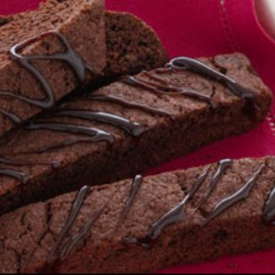 Triple Chocolate Biscotti: No wonder these treats are an Italian favorite—and now you can make them even more delectable with Duncan Hines Triple Chocolate Decadent Cake Mix. Crispy, chocolatey goodness that just begs to be shared (or not).
