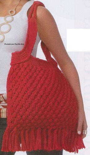 Trabalhada com Camila Fashion em fio duplo, na cor vermelha, agulha para crochê 3mm, o ponto pipoca cria um efeito maravilhoso. Existem vár...