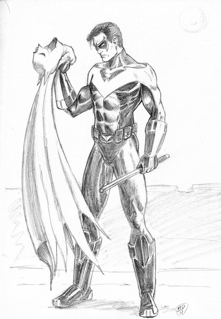 dc comics nightwing coloring pages - photo#15