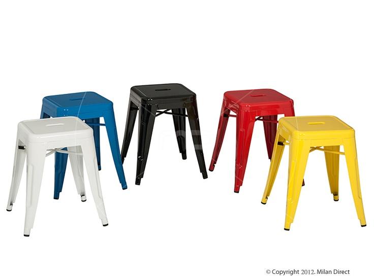 Tolix bar stool xavier pauchard reproduction 45cm - Bright colored bar stools ...
