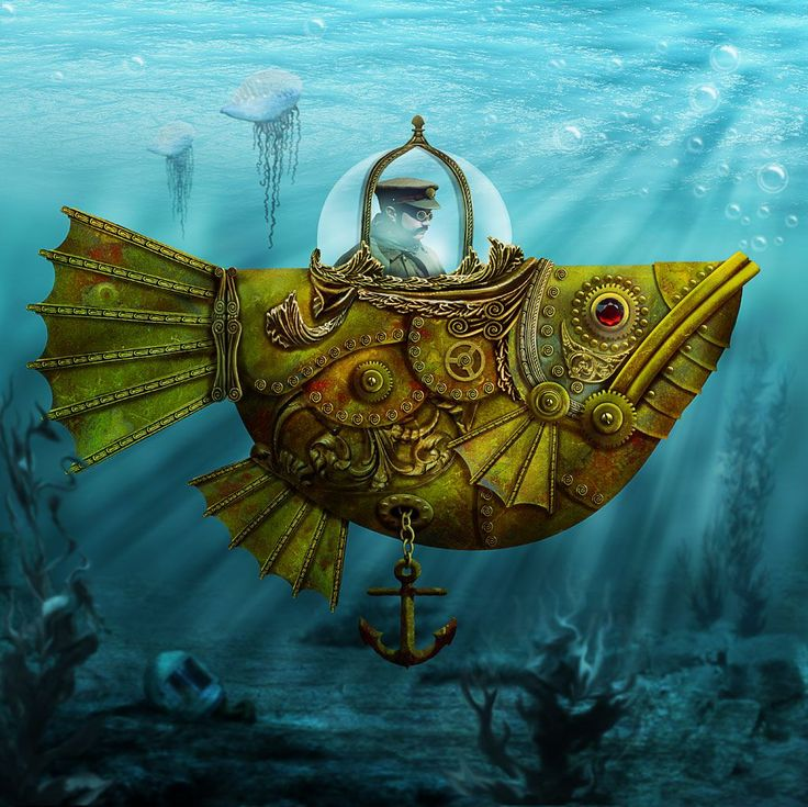 Steampunk Submersible by ravenscar45.deviantart.com on @deviantART