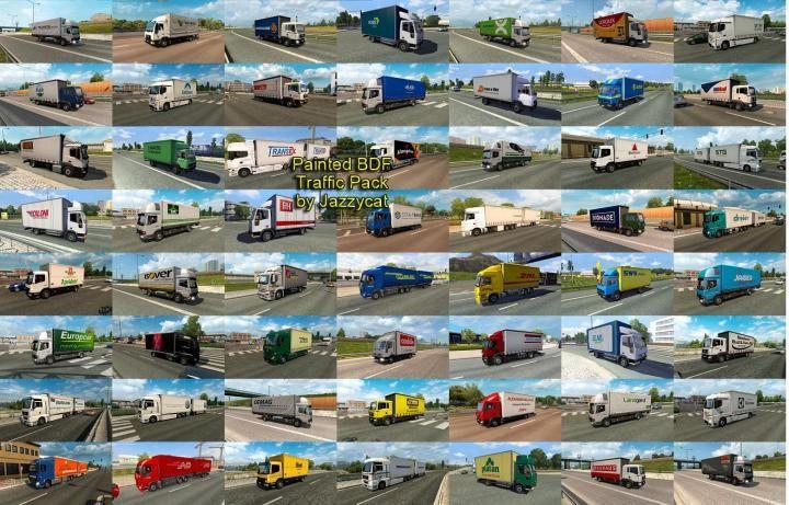 ETS2 - Painted Bdf Traffic Pack V5 4 (1 34 x) Download