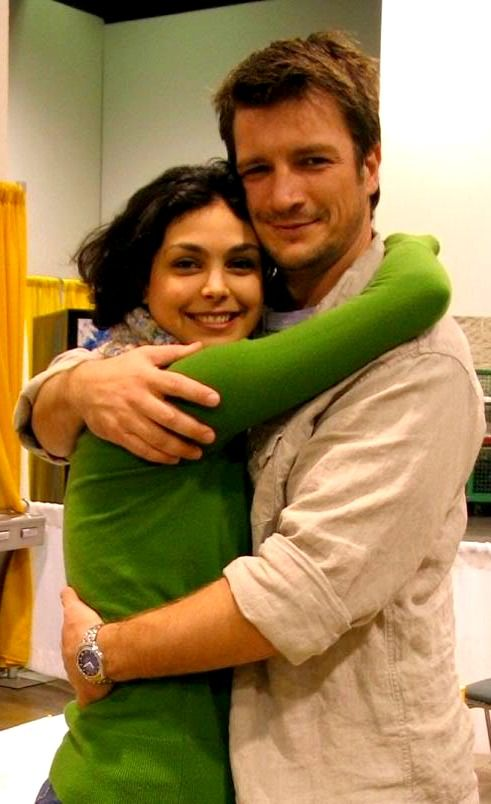 Nathan Fillion & Morena Baccarin  will always be Mal & Inara to me.