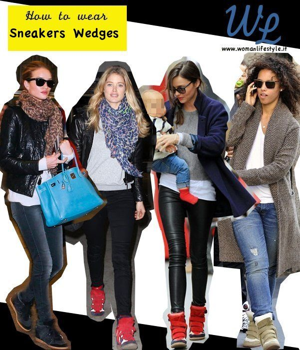 Come le #celebrity #indossano le #sneakers #wedges