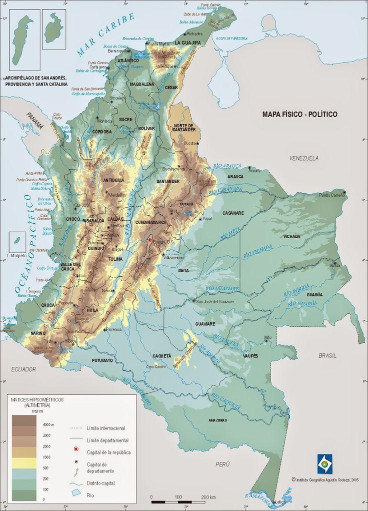 relieve y division politica region andina colombia - Buscar con Google