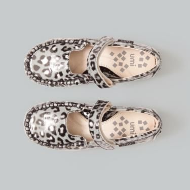 Moraine (a) - 322592-041 by UMI shoes- Big Girls • pretty mary jane shoes in black, white and grey leopard pattern on an all leather upper look like they'd be comfortable and stylish for my little girls.