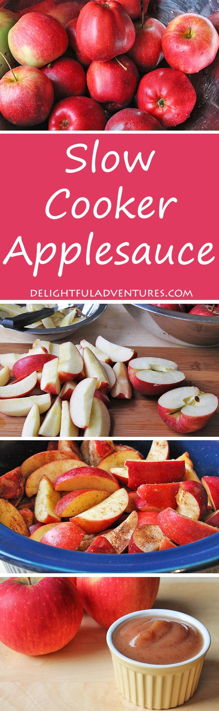 Do you  know how to make slow cooker applesauce? Once you see how easy and delicious it is, you won't want to buy store-bought applesauce again!