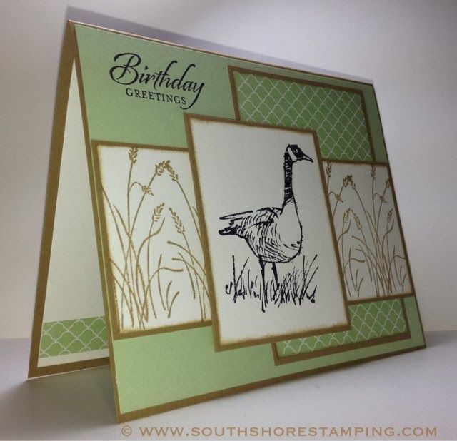Masculine Birthday card using the Stampin' Up! set Wetlands by Emily Mark SU demo Montreal. www.southshorestamping.com - PPA189