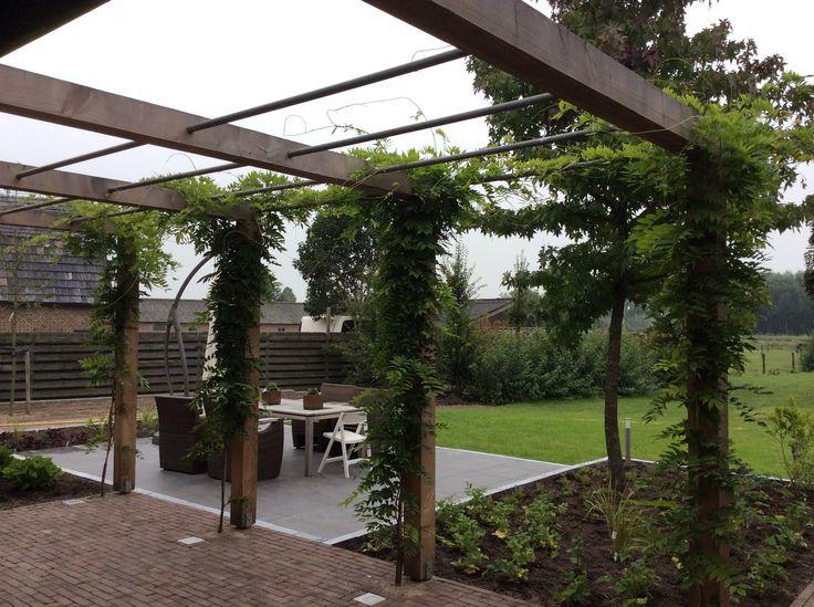 Pin van gerald helsen op helsen tuinen pinterest - Bank voor pergola ...