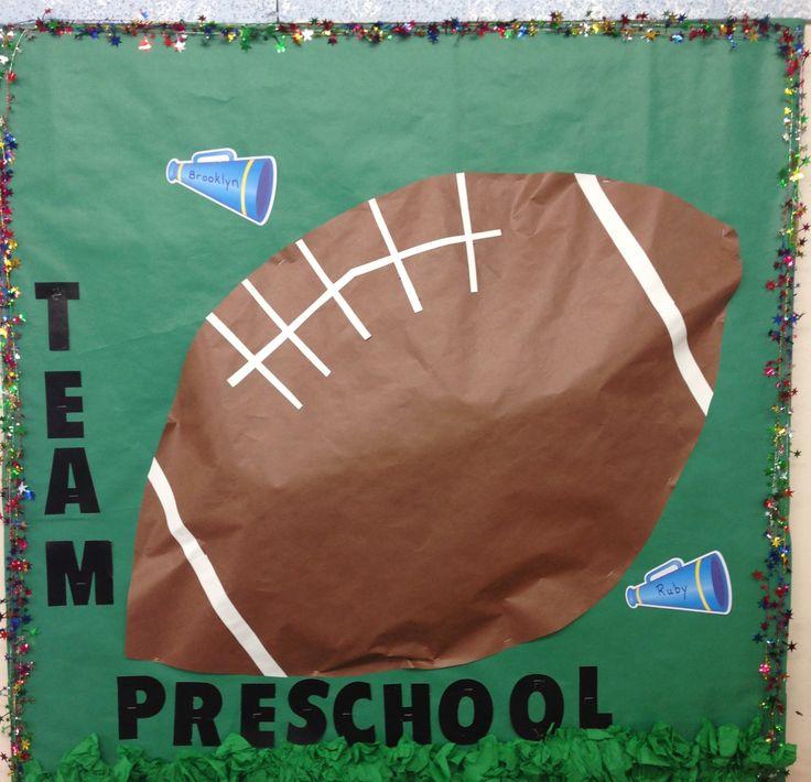 Back to school football bulletin board