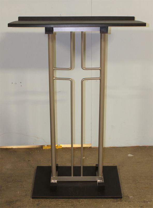 High Quality Church Furniture Store   Factory Second   Model 1400 Aluminum Cross Podium,  (http: