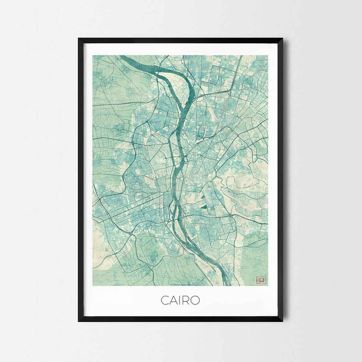 Cairo art posters and prints of your favorite city. Unique design of Cairo map. Perfect for your house and office or as a gift for friend.