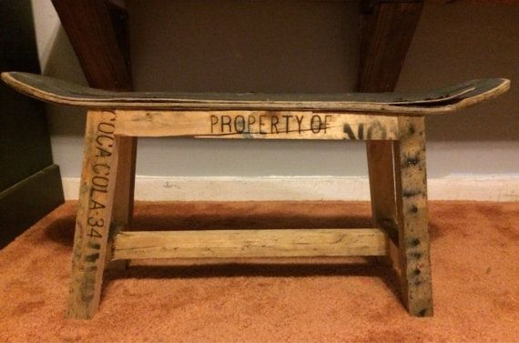 Child size skateboard bench with pallet legs by NSHDesigns, $75.00
