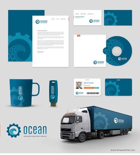 Ocean Corporate Identity }-> repinned by www.BlickeDeeler.de