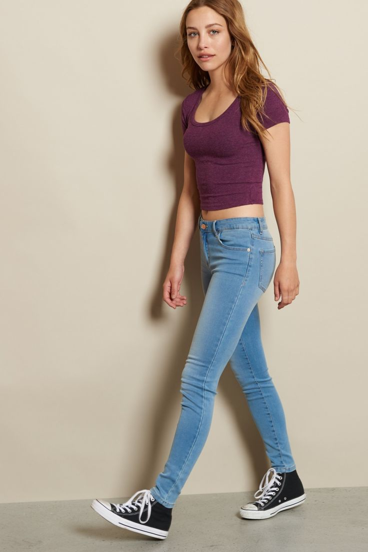 Looking for comfort and style? Harbor Blue Premium Super Soft High Waist Jegging / Shop the look: https://goo.gl/rg22qc