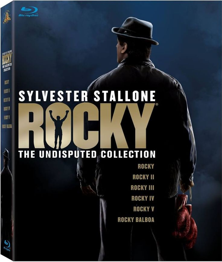 Get Amazon.com's 'Gold Deal of the Day' and all of the Rocky films on state-of-the-art Blu-ray, as well as a bonus disc loaded with extras to deliver an undisputed knockout! This set includes Rocky, Rocky II, Rocky III, Rocky IV, Rocky V, and Rocky Balboa, which completes the saga. One of the best continuous dramas about the 'human spirit' and survival ever told. 'Yo, Adrian!' 2TU!