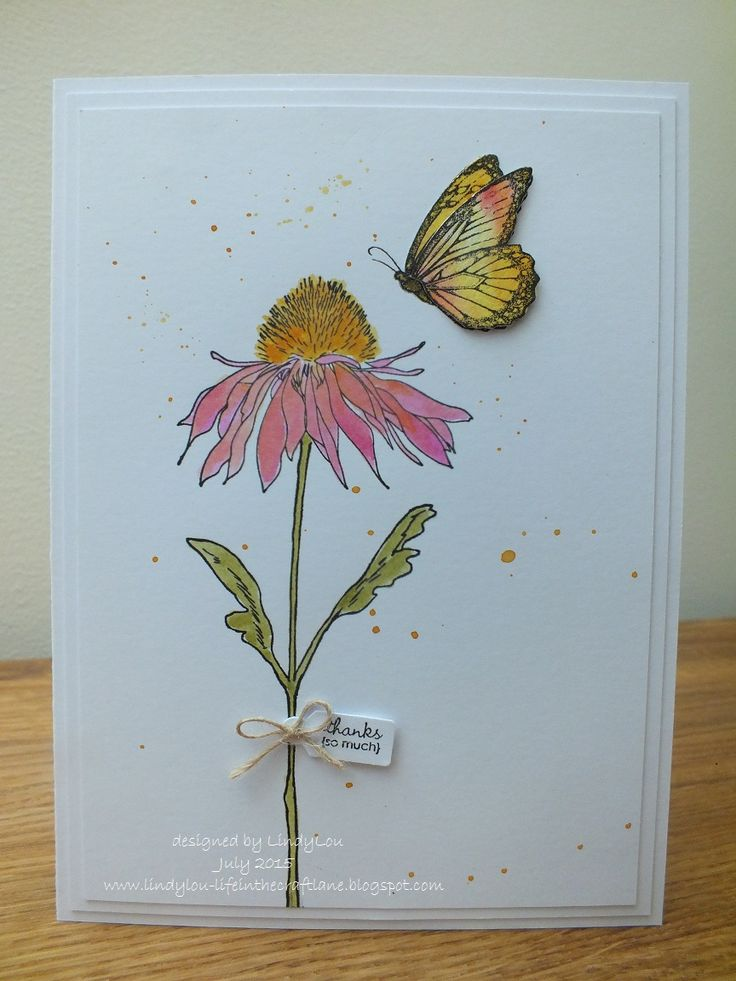 Just in case you need a little inspiration here's a quick card made using my favourite Tim Holtz stamp set (at the moment!) ....... Flower Garden (CMS215)