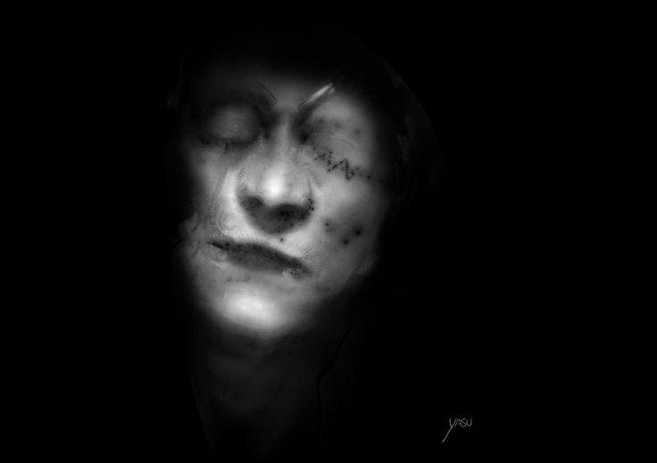 Father_by yasu  https://yasu.artstation.com/yasu  #yasu #father #face #concept #grayface