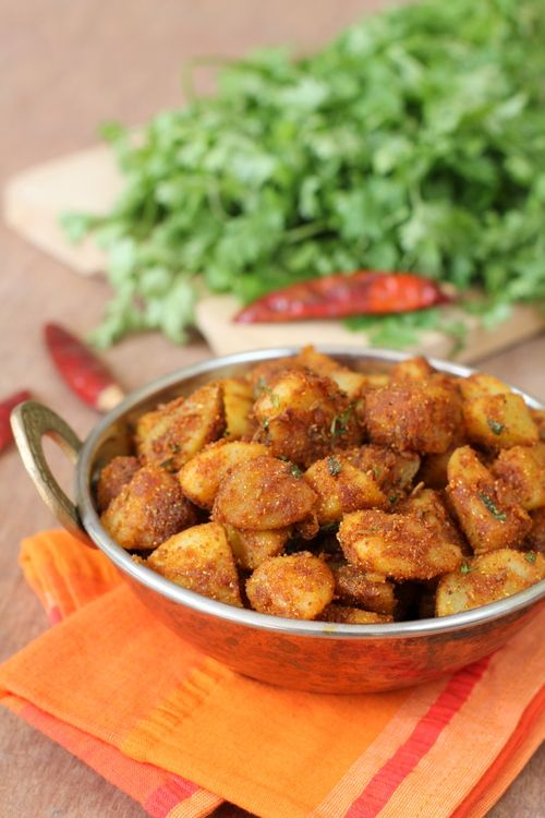 Potato Roast - Quick Simple Recipes - North Indian style Aloo Fry