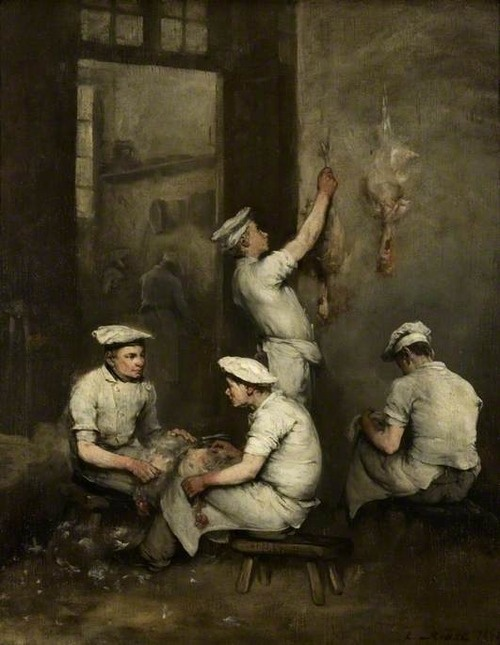 Théodule Ribot (French, 1823-1891), The Cooks, 1862. Oil on canvas, 74.3 x 61.6cm. The Burrell Collection, Glasgow.