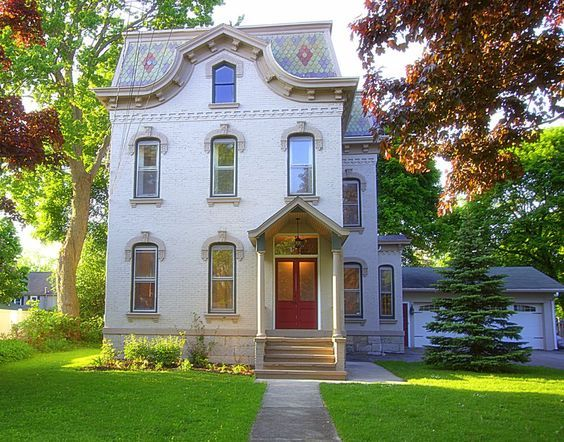 Recently sold: $270,000. Elegance and distinction is apparent throughout this three-story brick Second Empire style home, built circa 1870. A few characteristics include a mansard slate roof, grand curved staircase, custom woodwork, 4 fireplaces, and intricate detailing. Dwellings of this kind were generally built without regard to cost; there are no alternatives to this home and its location. Located in the heart of the beautiful, historic city of Auburn, recently restored and chosen to…