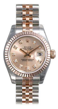 Rolex Datejust Rose Diamond Dial Jubilee Bracelet Two Tone Ladies Watch 179171RDJ