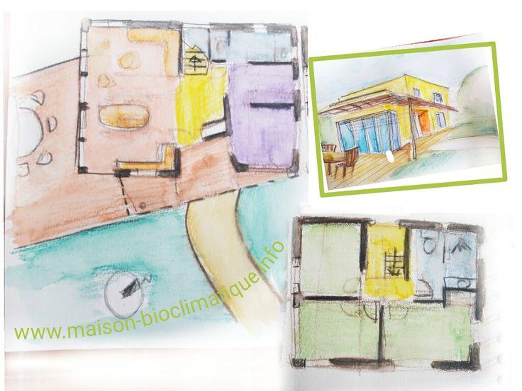 plan maison plain pied 4 chambres avec suite parentale Travaux