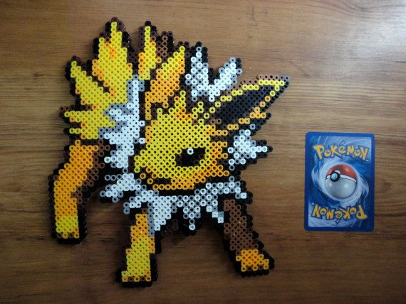 Jolteon Pokemon Perler Bead Sprite