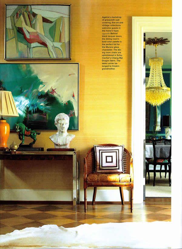 cinda boomershines home, the foyer