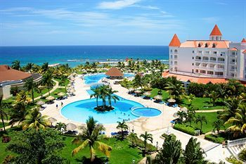 Luxury Bahia Principle Runaway Bay Jamaica 39 miles from airport 70 rooms, 9 bars, 5 restaurants, and 3 pools. Beachside all-inclusive resort with wedding packages available May 2014 $173 per night