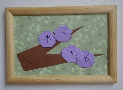 Flor (marco madera y vidrio)