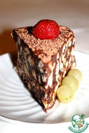 Рецепт: Шоколадный торт без выпечки