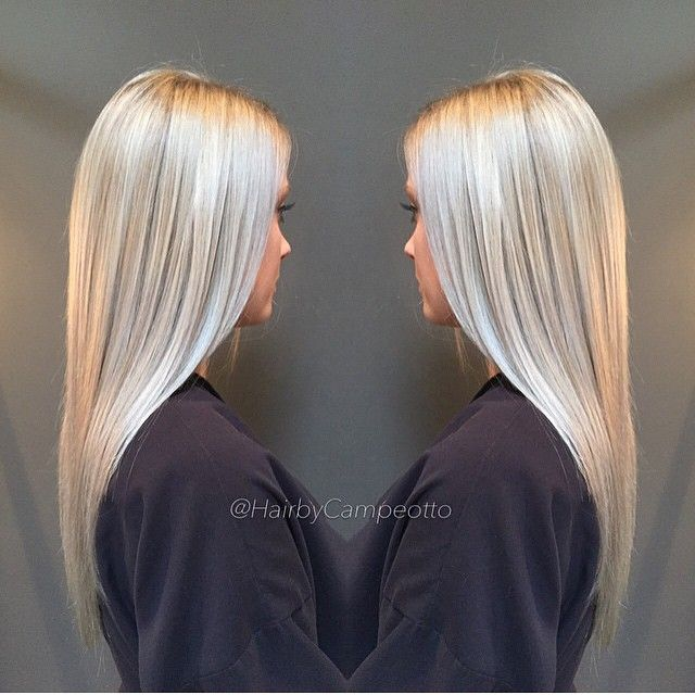 Whoa - silver blonde is new and now. Color by @hairbycampeotto  #hair #hairenvy #hairtalk #haircolor #blonde #silver #silverblonde #newandnow #inspiration #maneinterest