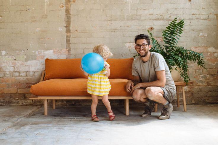 Frida + Pop & Scott furniture maker Zac. Photo by Bobby + Tide