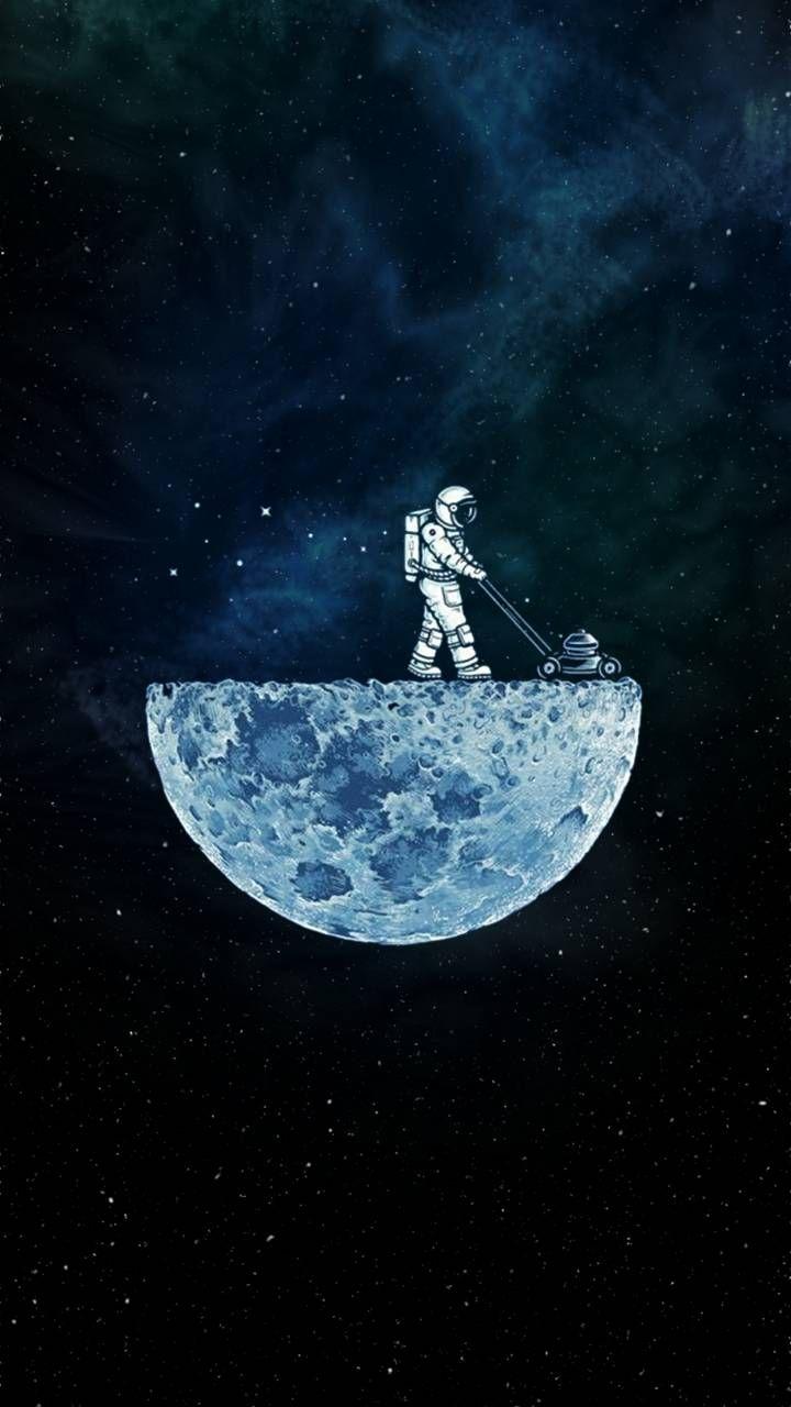 Moon Man Wallpaper space Galaxy wallpaper Astronaut wallpaper