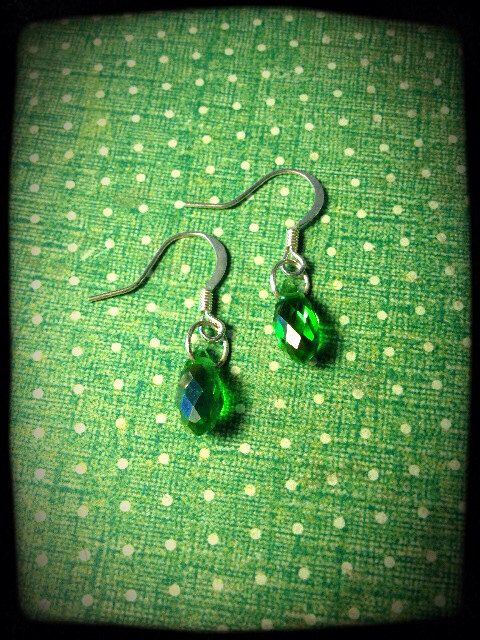 Swarovski Crystal Earrings- Various Colours on Etsy, $15.00 CAD
