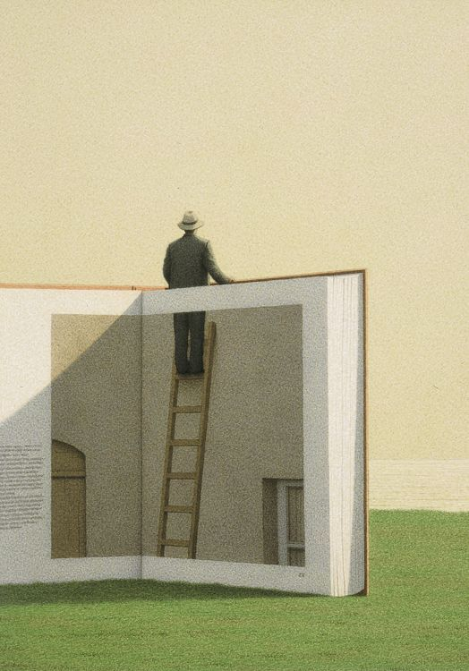Quint Buchholz (German, born 1957)  Man on a Ladder, 1992