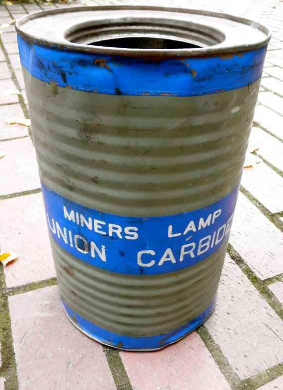 Antique Miners Lamp Union Carbide Can From The Gold By