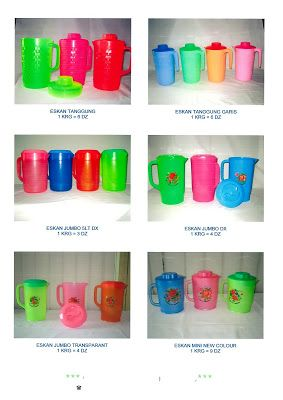 Selatan Jaya distributor barang plastik furnitur Surabaya Indonesia: Teko air atau eskan plastik merk Nasional