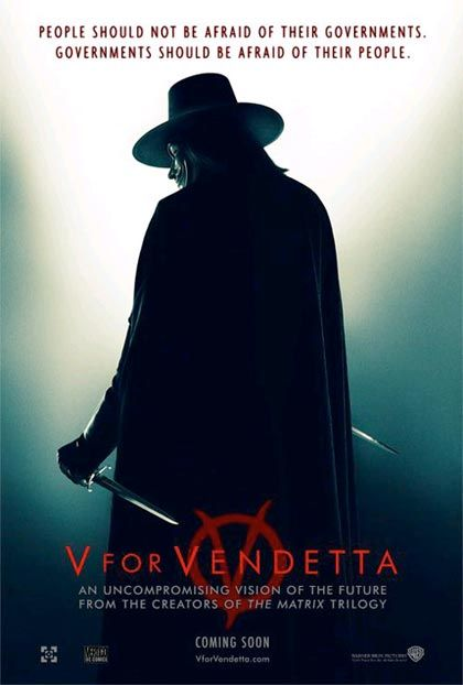 V per Vendetta, capolavoro dei fratelli Wachowski. Uno dei migliori film mai visti.
