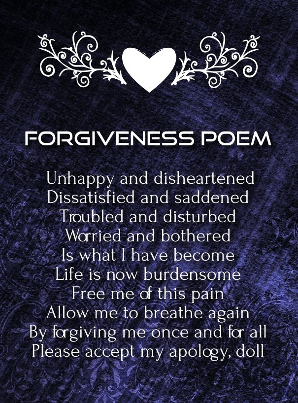 Images of Cute Apology Poems - #rock-cafe