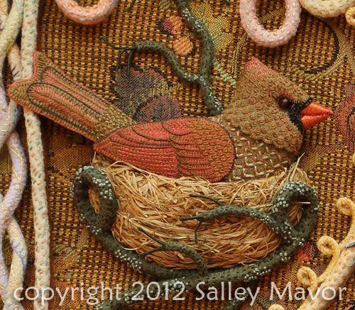 Aves del paraíso de fieltro con bordados (16) (500x437, 333KB)